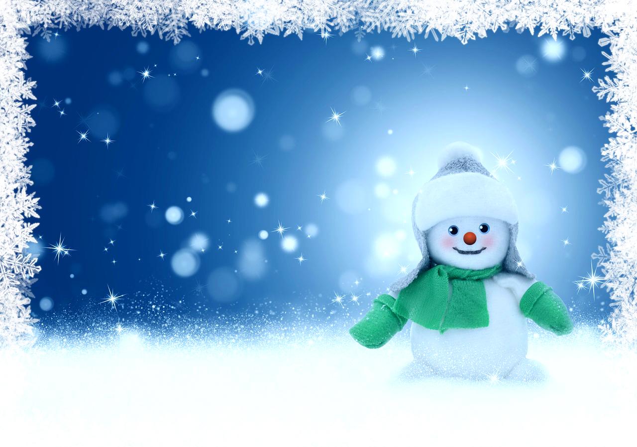 snowman bordered