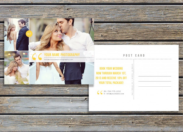 Amazing Postcard Templates For Photographers  Ipiccy Photo