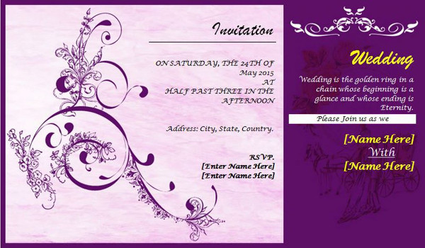 Wedding Invitations Template Word: 7 Amazing Postcard Templates For Photographers