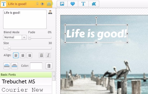how to add text to a picture