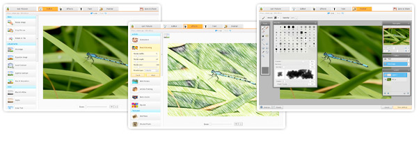 iPiccy Editor Screens